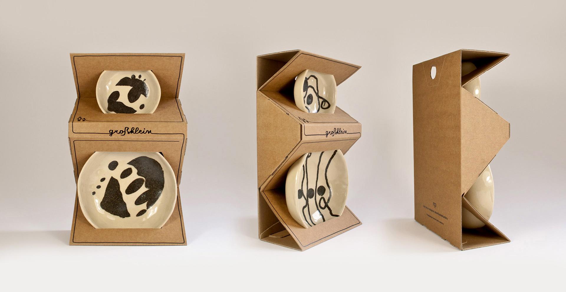 Groß-Klein Keramikserie Versand- und Präsentationsverpackung