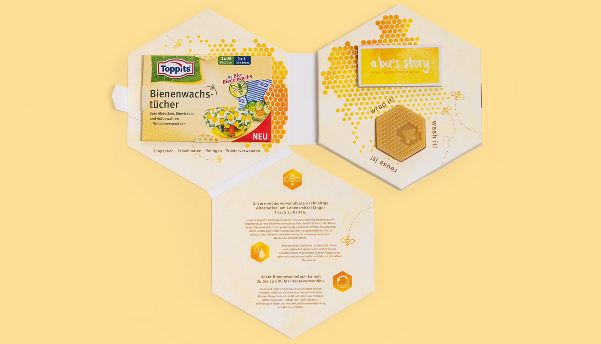 Toppits Beeswax Wraps Box