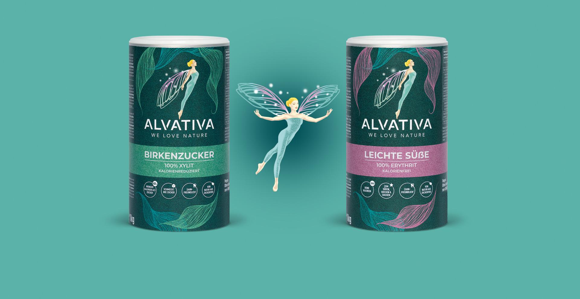 Alvativa Birkenzucker Kartondosen by HeySister Packaging Design