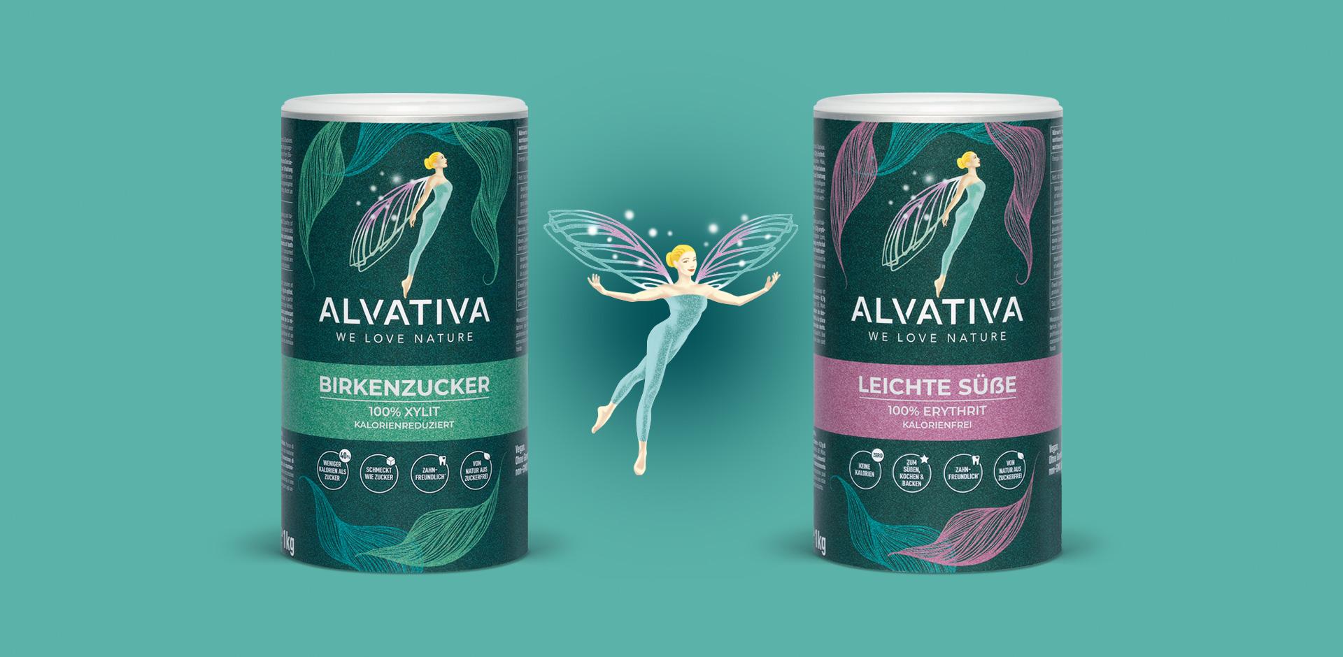 Alvativa Logo und Verpackung by HeySister Packaging Design